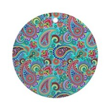 Cute Paisley Round Ornament