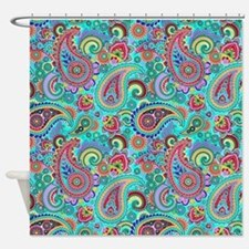 Cool Pink turquoise Shower Curtain