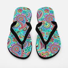 Cute Paisley Flip Flops
