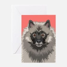 Keeshond Greeting Cards