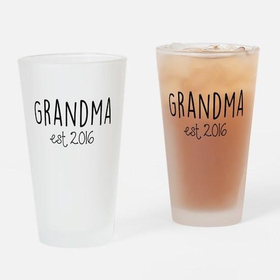 Grandma Est. 2016 Drinking Glass
