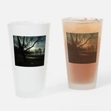 Sunset Silhouette Drinking Glass