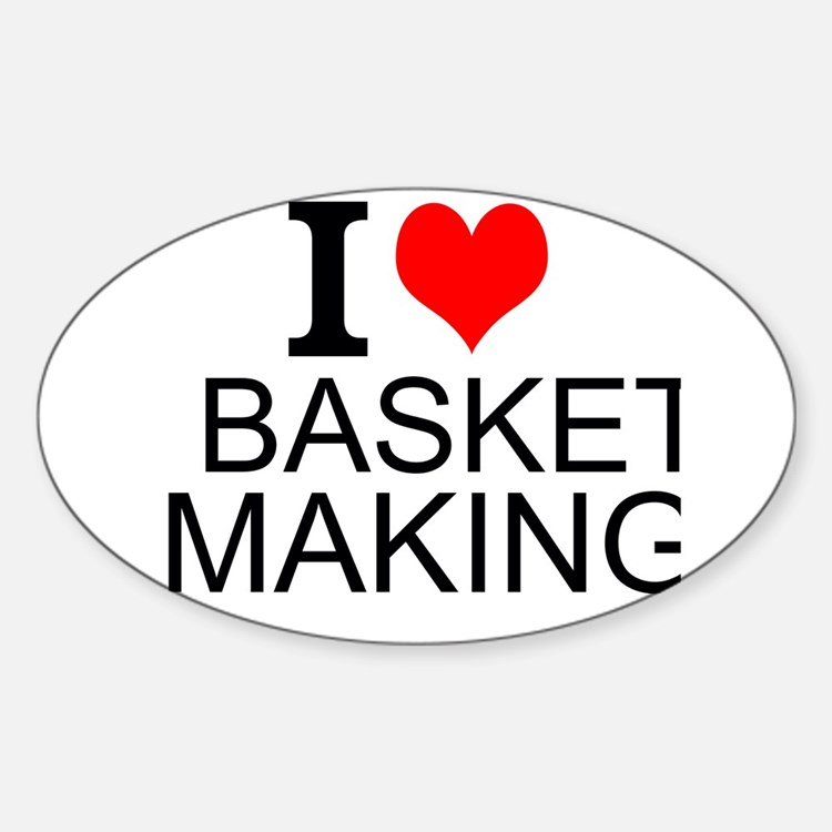 I Love Basket Making Decal