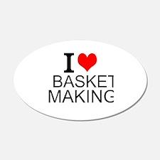 I Love Basket Making Wall Decal