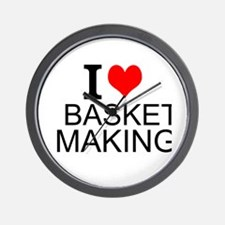 I Love Basket Making Wall Clock