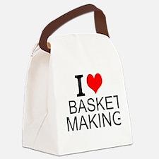 I Love Basket Making Canvas Lunch Bag