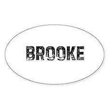 Brooke Oval Decal