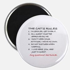 THE CAT'S RULES Magnet