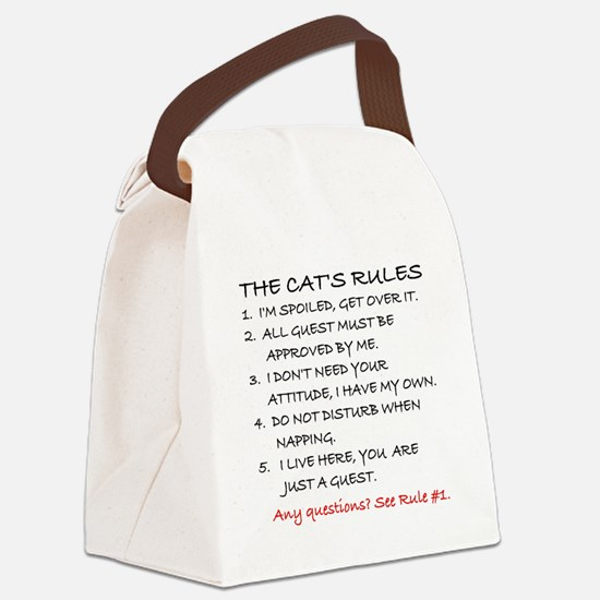 THE CAT'S RULES Canvas Lunch Bag