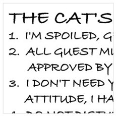 THE CAT'S RULES Poster