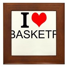 I Love Basketry Framed Tile