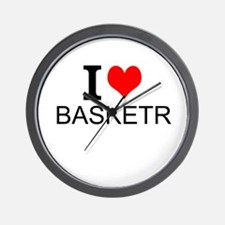 I Love Basketry Wall Clock