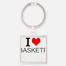 I Love Basketry Keychains