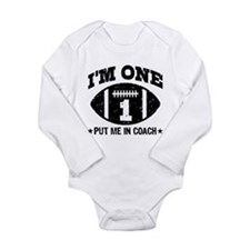Funny One year old Long Sleeve Infant Bodysuit
