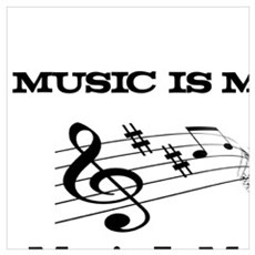 MUSIC IS MY LIFE, DREAM, LOVE, FRIEND Poster