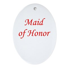 Maid of honor Oval Ornament