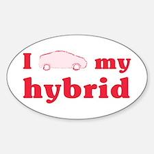 I Love My Hybrid Oval Bumper Decal