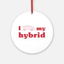 I Love My Hybrid Keepsake Ornament (Round)