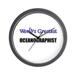 Worlds Greatest OCEANOGRAPHIST Wall Clock