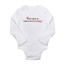 Cute Tv news Long Sleeve Infant Bodysuit