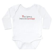 Tv Long Sleeve Infant Bodysuit