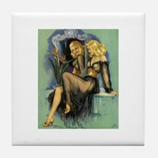Pin Up: Lingerie ! Tile Coaster