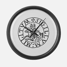Knights Templar Seal #3 Large Wall Clock