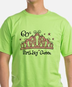 Tiara 60th Birthday Queen T-Shirt