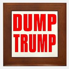 DUMP TRUMP Framed Tile