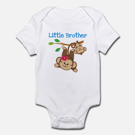 Monkeys Little Bro W. Big Sis Infant Body Suit