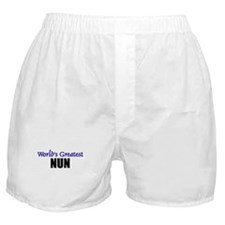 Worlds Greatest NUN Boxer Shorts