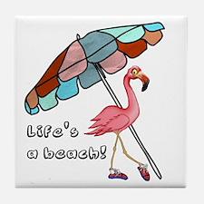 Cute Flamingo Tile Coaster