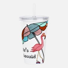 Cute Flamingo Acrylic Double-wall Tumbler