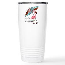 Cute Flamingo Travel Mug