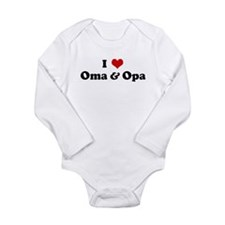 Cute I love my opa Long Sleeve Infant Bodysuit