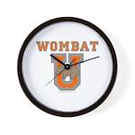 Wombat U III Wall Clock