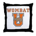 Wombat U III Throw Pillow