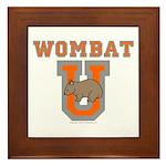 Wombat U III Framed Tile