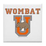 Wombat U III Tile Coaster