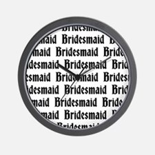 Gothic Bridesmaid Wall Clock
