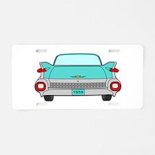 1959 Fins Aqua Aluminum License Plate