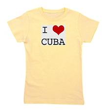Cute I love cuba Girl's Tee