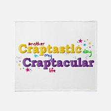 Craptastic Throw Blanket