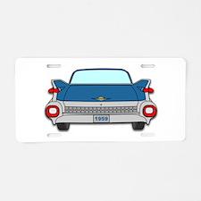 1959 Fins Blue Aluminum License Plate