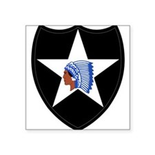 """Cute 2nd infantry division Square Sticker 3"""" x 3"""""""