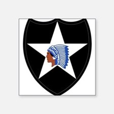 "Cute 2nd infantry division Square Sticker 3"" x 3"""