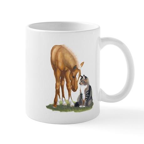 Mini Horse and Cat Mug