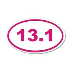 13.1 pink magenta oval Wall Decal