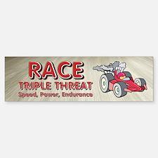 Car Race Triple Bumper Bumper Sticker