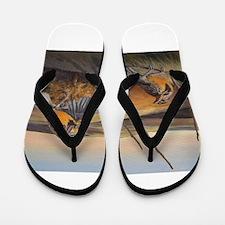 Susan Rose's Flight of Gold Flip Flops